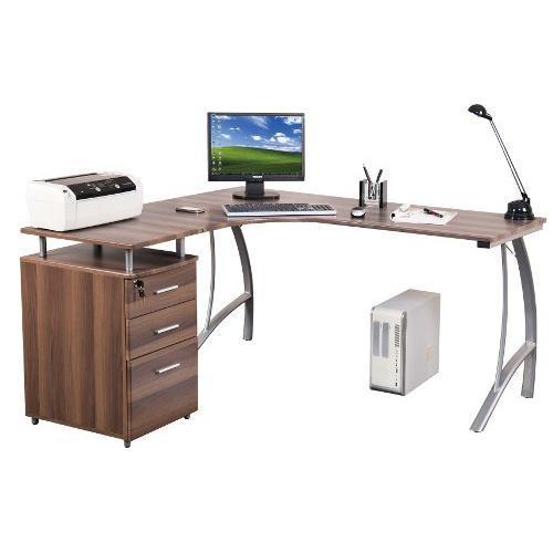 Free scrivania per computer castor con spazio per for Accessori scrivania design