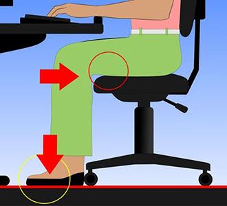 Altezza corretta sedia da ufficio: mantenere un angolo di 90 gradi