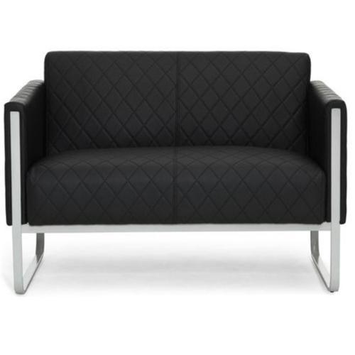 Divano a 2 posti ARUBA, design elegante, in pelle nera - Divano di ...