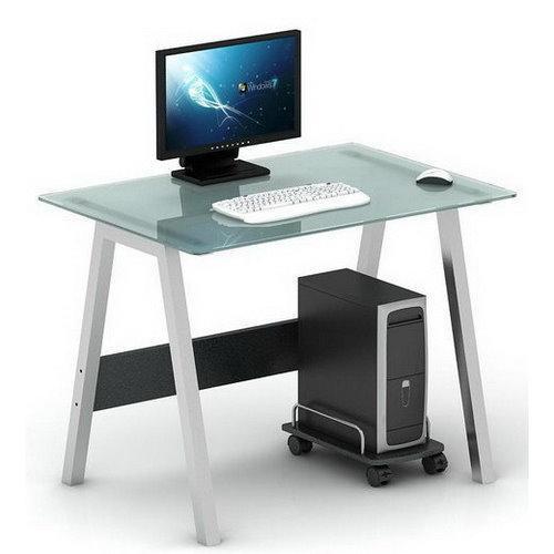 Scrivania Per Computer Design.Scrivania In Vetro Per Computer Delta 76x100 Cm Sediadaufficio It