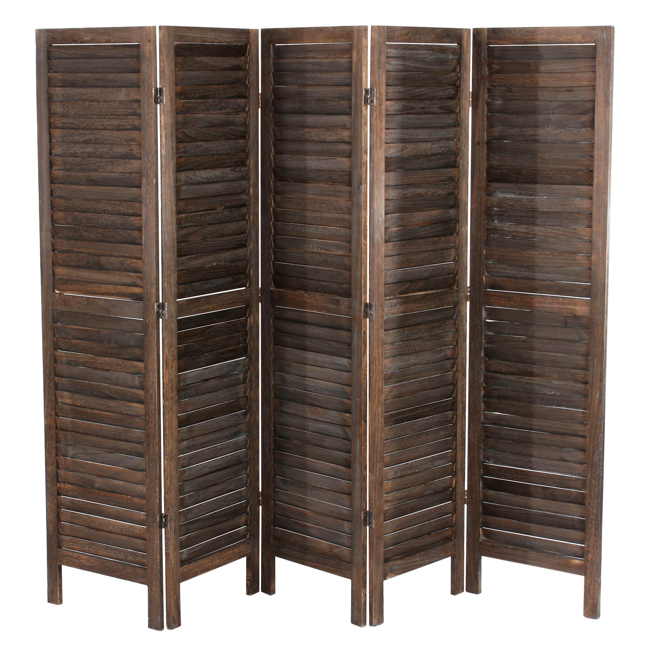 Paravento a 5 pannelli LEO, cm 170x228x2, stile shabby chic in legno ...