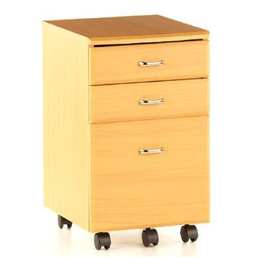 Cassettiera per ufficio EKON, con ruote, molto ampia, in legno ...