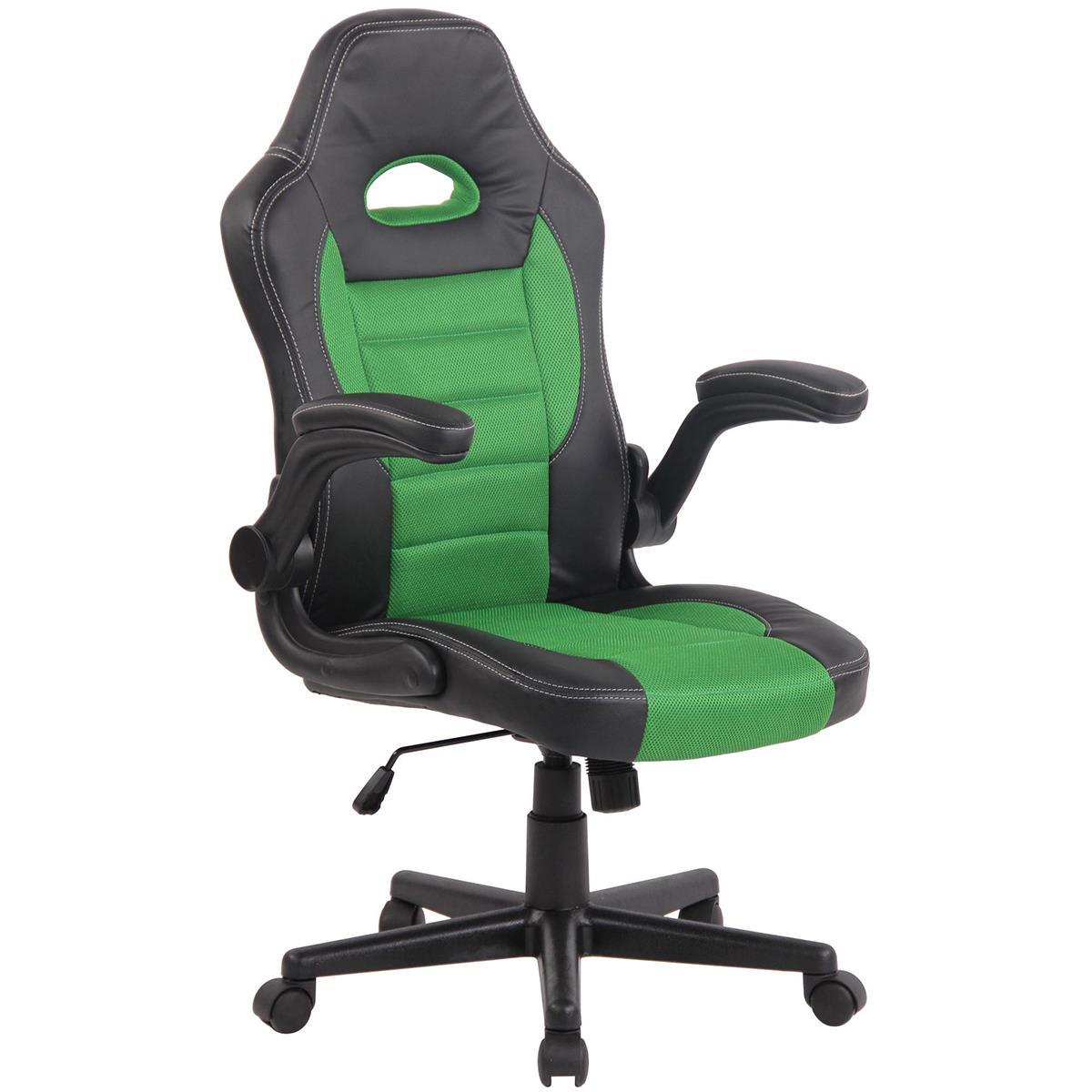 elegant sedia gaming per pc modello lotus braccioli abbattibili in pelle e tessuto a rete traspirante colore verde with sedia ergonomica pc
