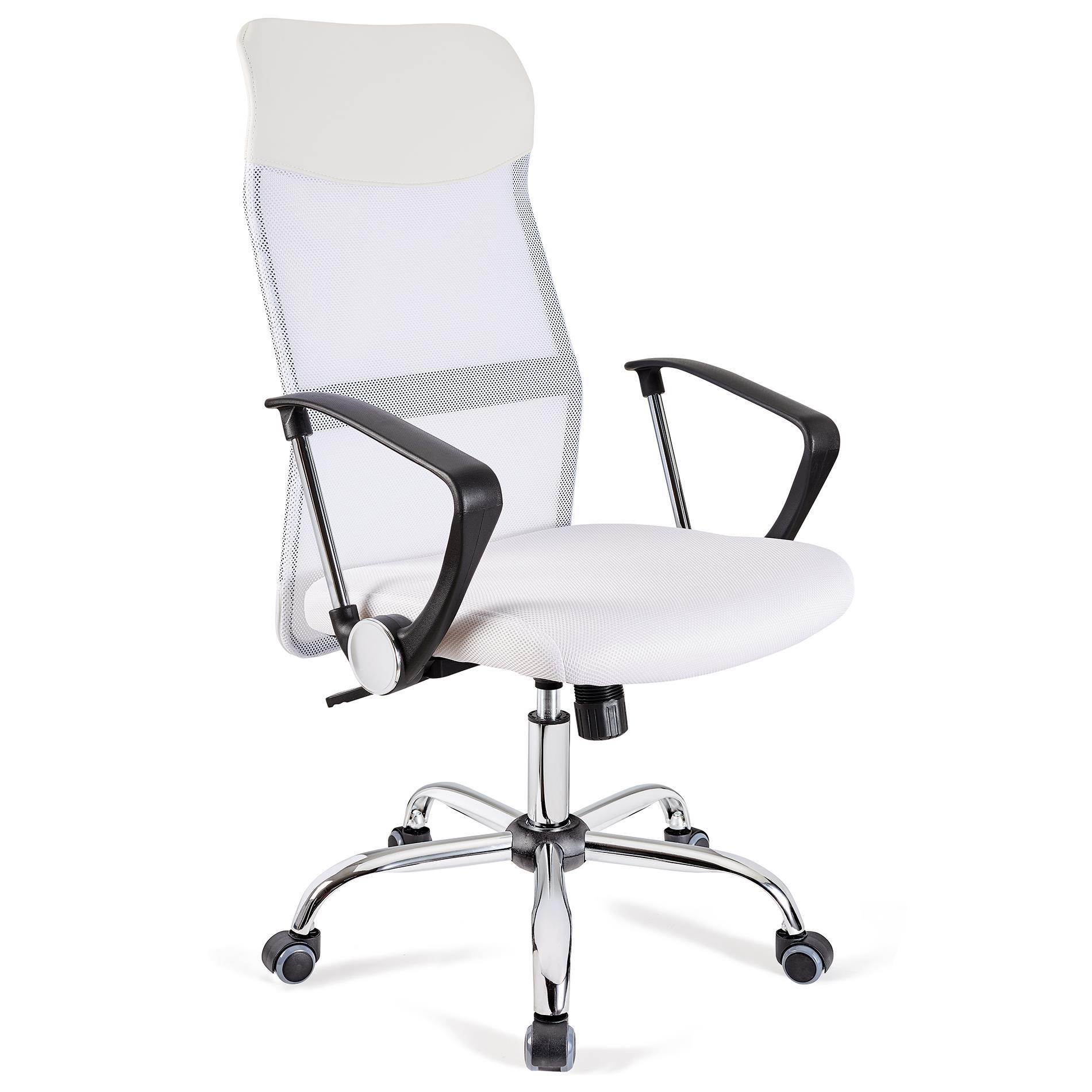 Sedia ufficio aspen rete traspirante e sedile imbottito for Sillas de oficina blancas
