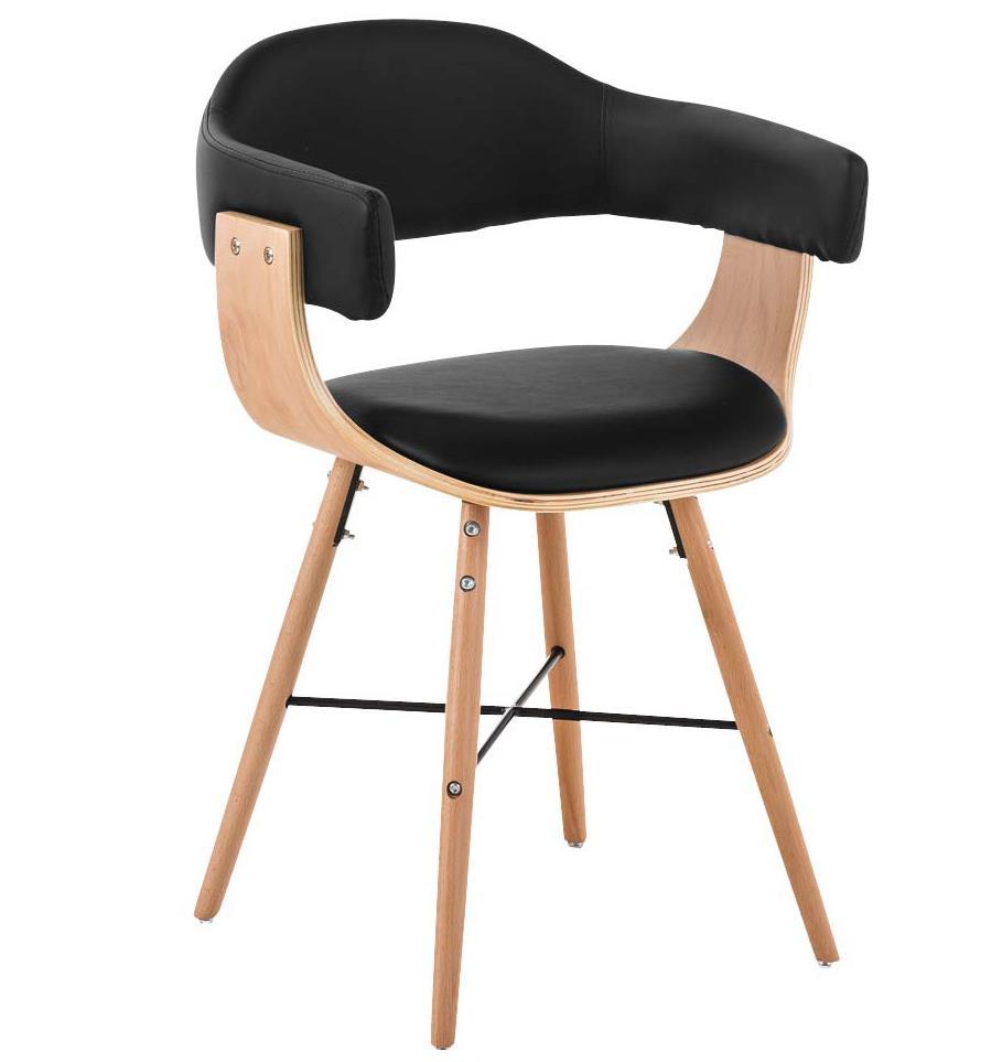 Sedie Design Legno E Pelle.Sedia Per Ospiti Barry Lux Pelle Gambe Chiare Design All