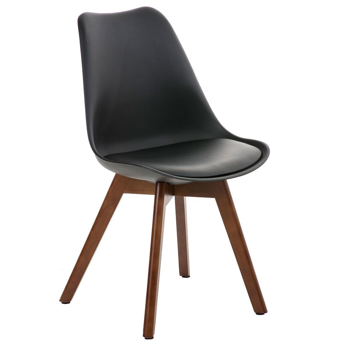 Sedia di Design per Ospiti BORNEO, stile rétro con base in legno e ...