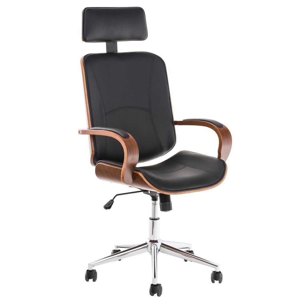 sedia da ufficio jutta design unico in legno e pelle
