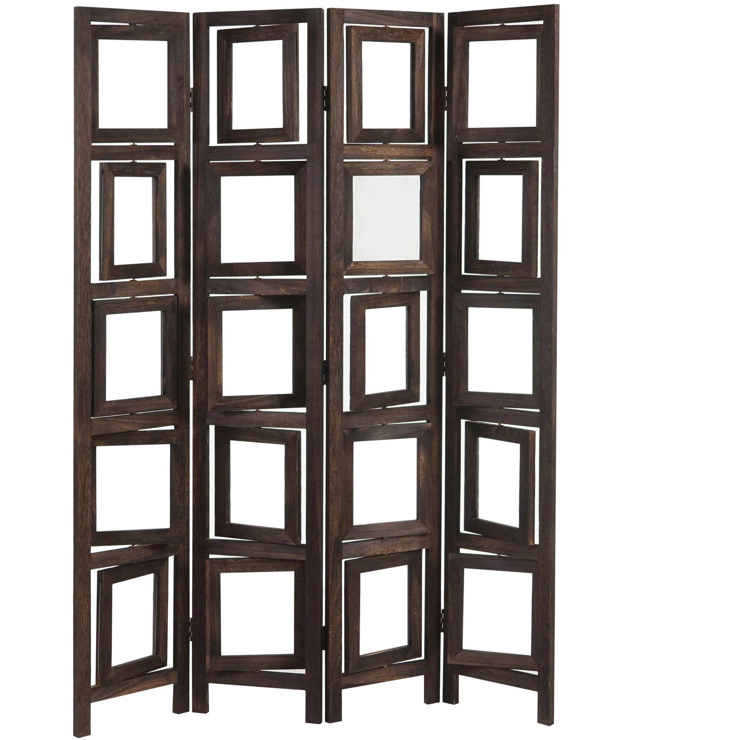 Paravento separé DONAR, cm 160x125x2, struttura in legno con ...