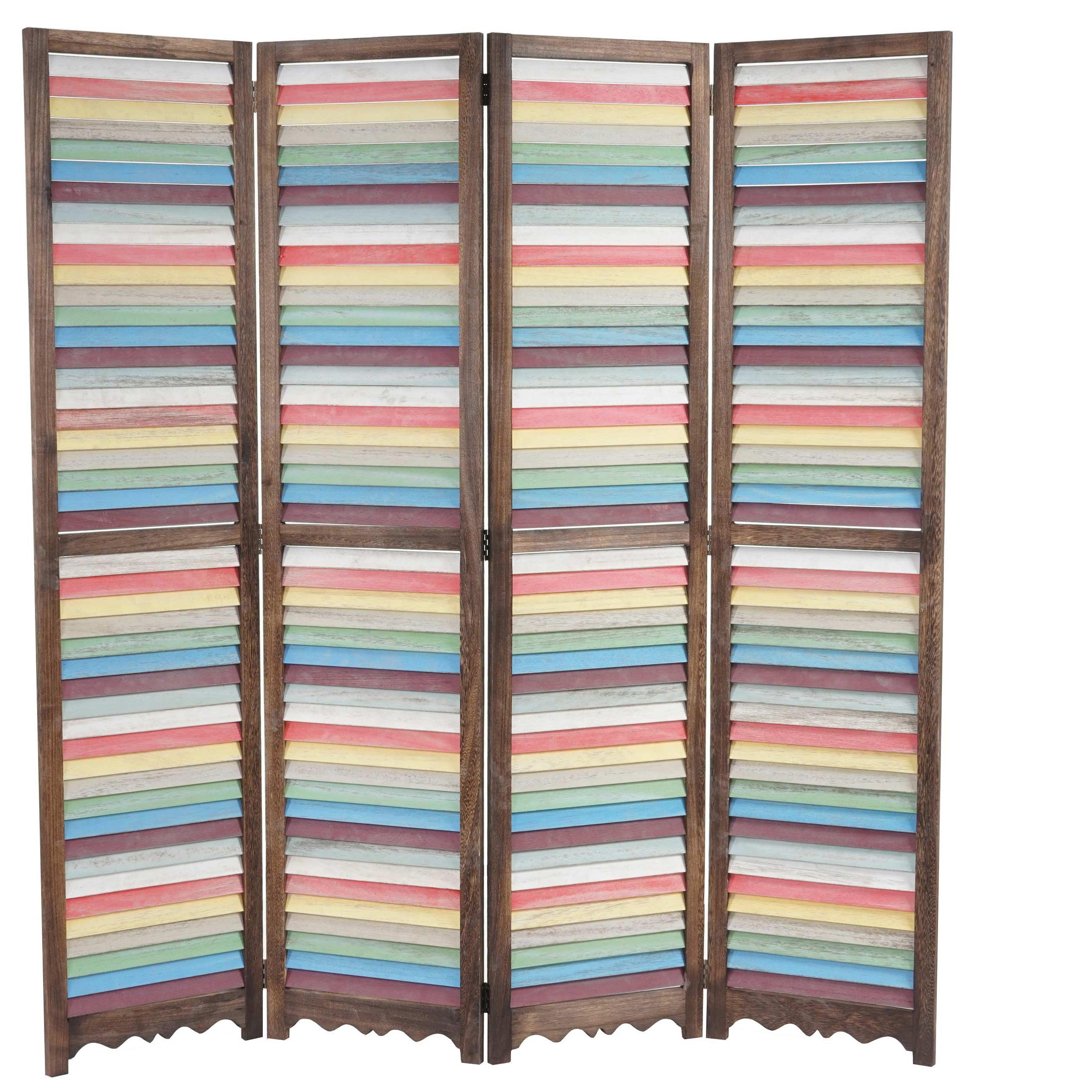 Paravento separé GERD, cm 170x160x2, struttura in legno multicolore ...