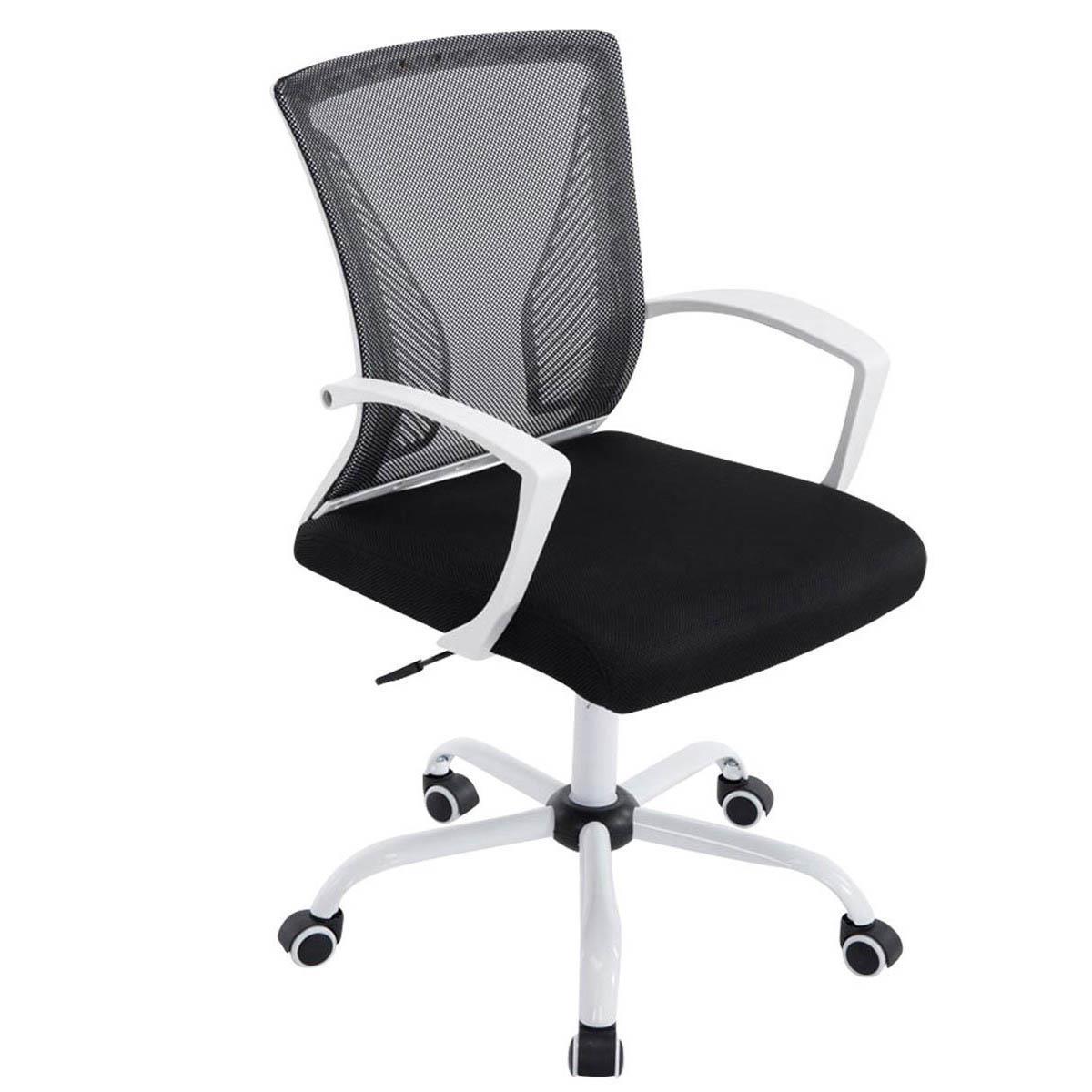 Sedia da ufficio cuba white schienale traspirante design for Sedia ufficio basculante