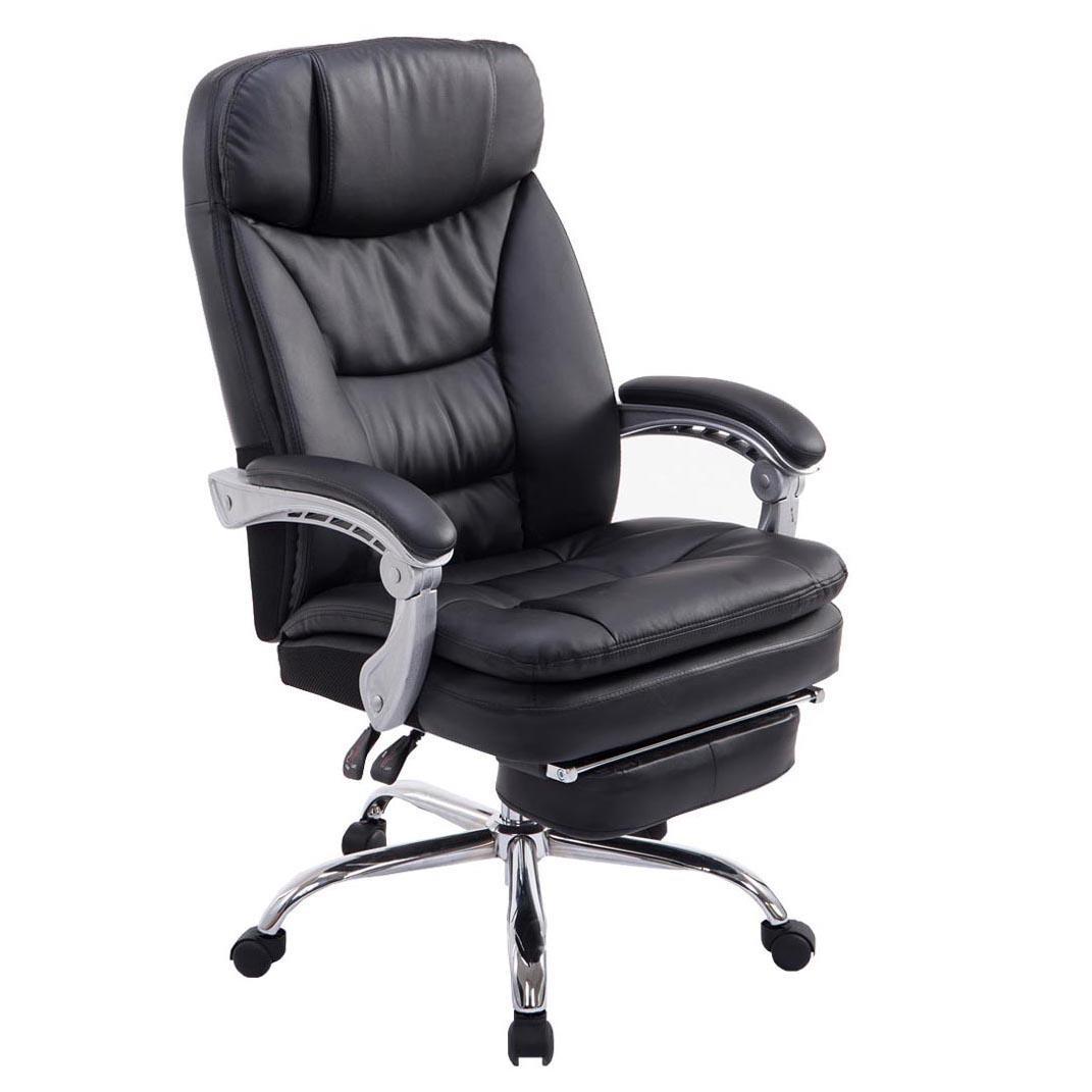 Poltrona ufficio AUSTIN PELLE, reclinabile, resistente fino a 160kg ...