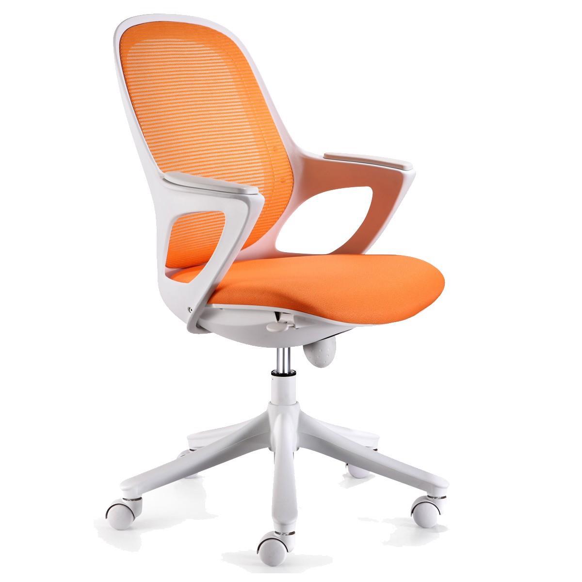 Sedie Da Ufficio Arancione.Sedia Per Ufficio Virgo Ergonomica Sedile Imbottito Bianco E