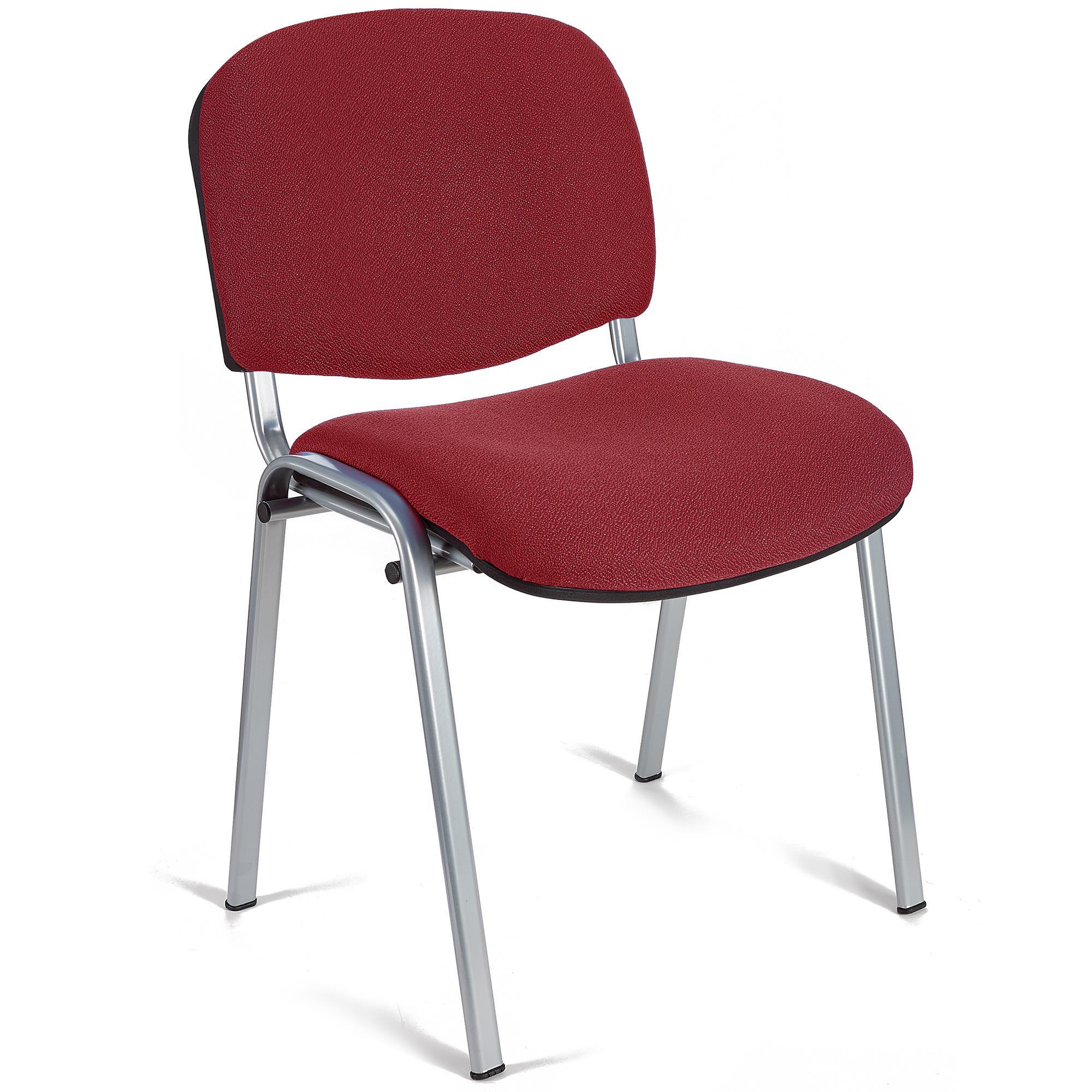 Sedia per sala conferenze moby base colore bordeaux con for Sedie design grigie