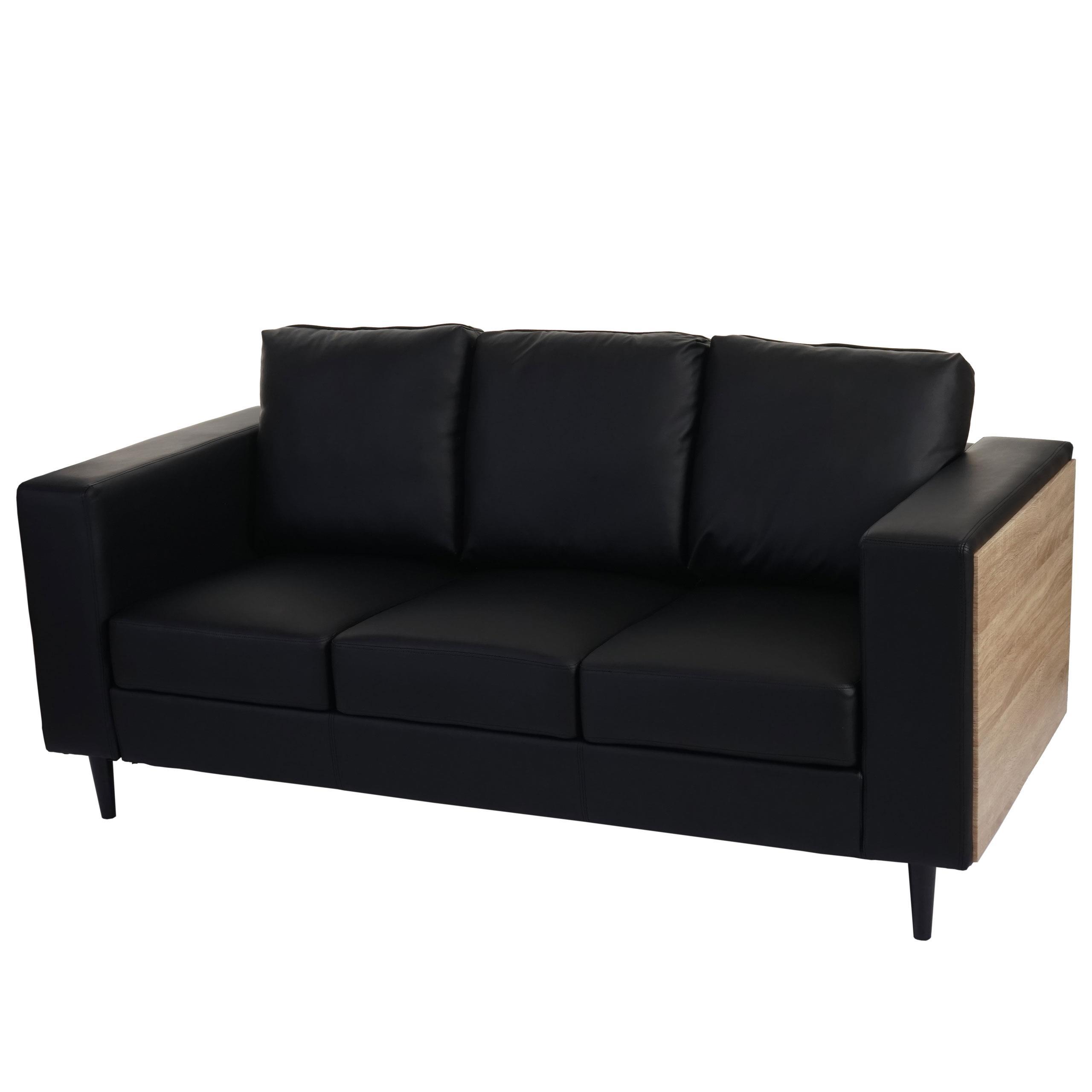 Divano a 3 posti ALEX, comoda seduta imbottita con rivestimento in ...