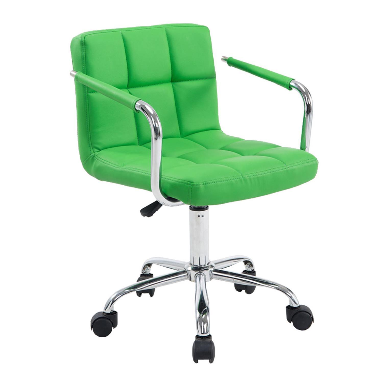 Sedia Girevole Metallo.Sedia Girevole Betty Imbottita Struttura In Metallo In Pelle Colore Verde