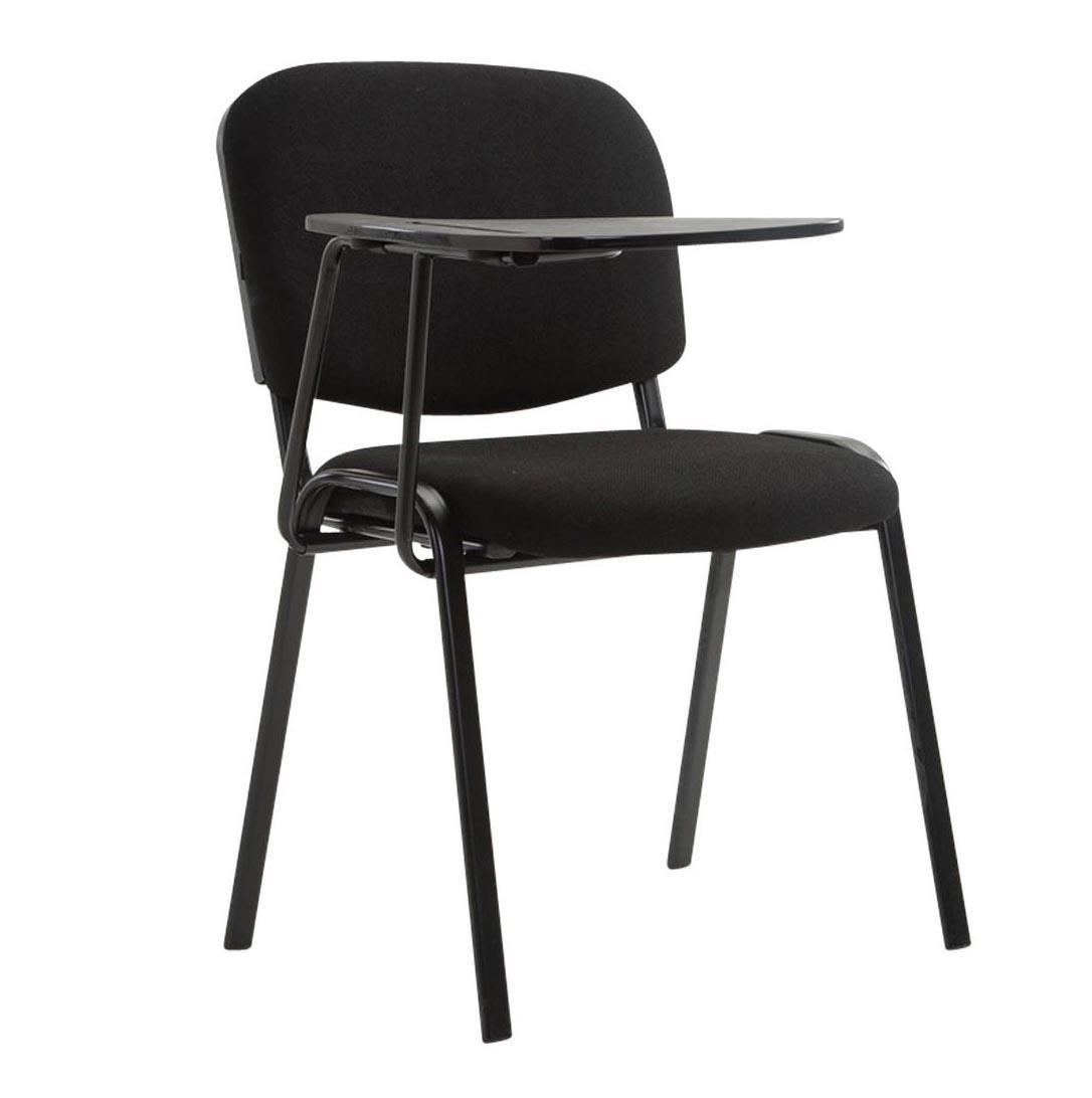 Sedia conferenze moby con scrittoio colore nero gambe for Sedia design comoda
