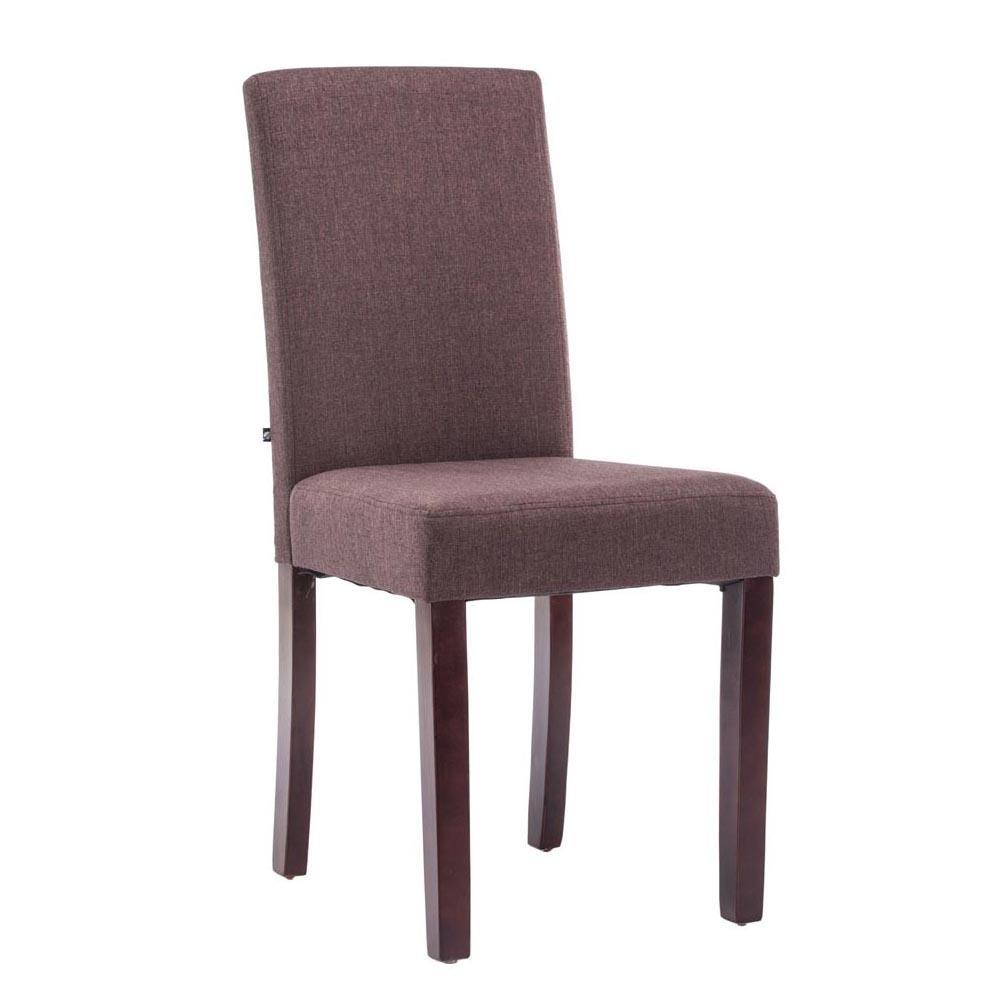 Sedie Legno Rivestite Tessuto.Sedia Per Ospiti Mita Tessuto Gambe In Legno Marrone Seduta In