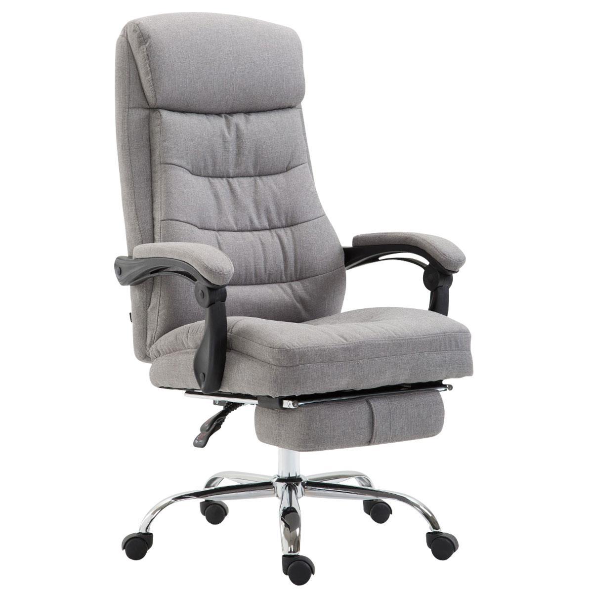 Sedia da ufficio argo tessuto in tessuto grigio chiaro for Sedute da ufficio