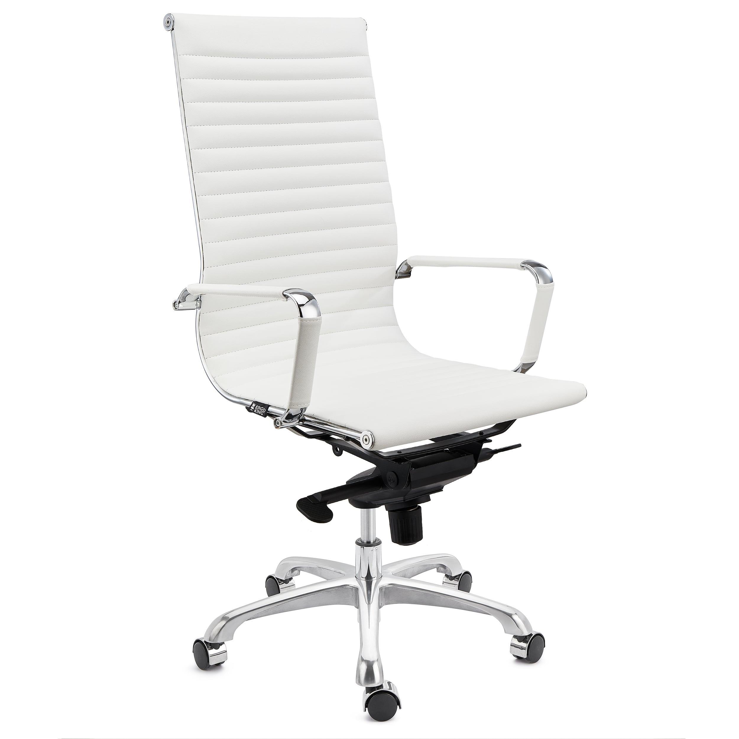 Sedia da Ufficio DORIS vera pelle color Bianco ...