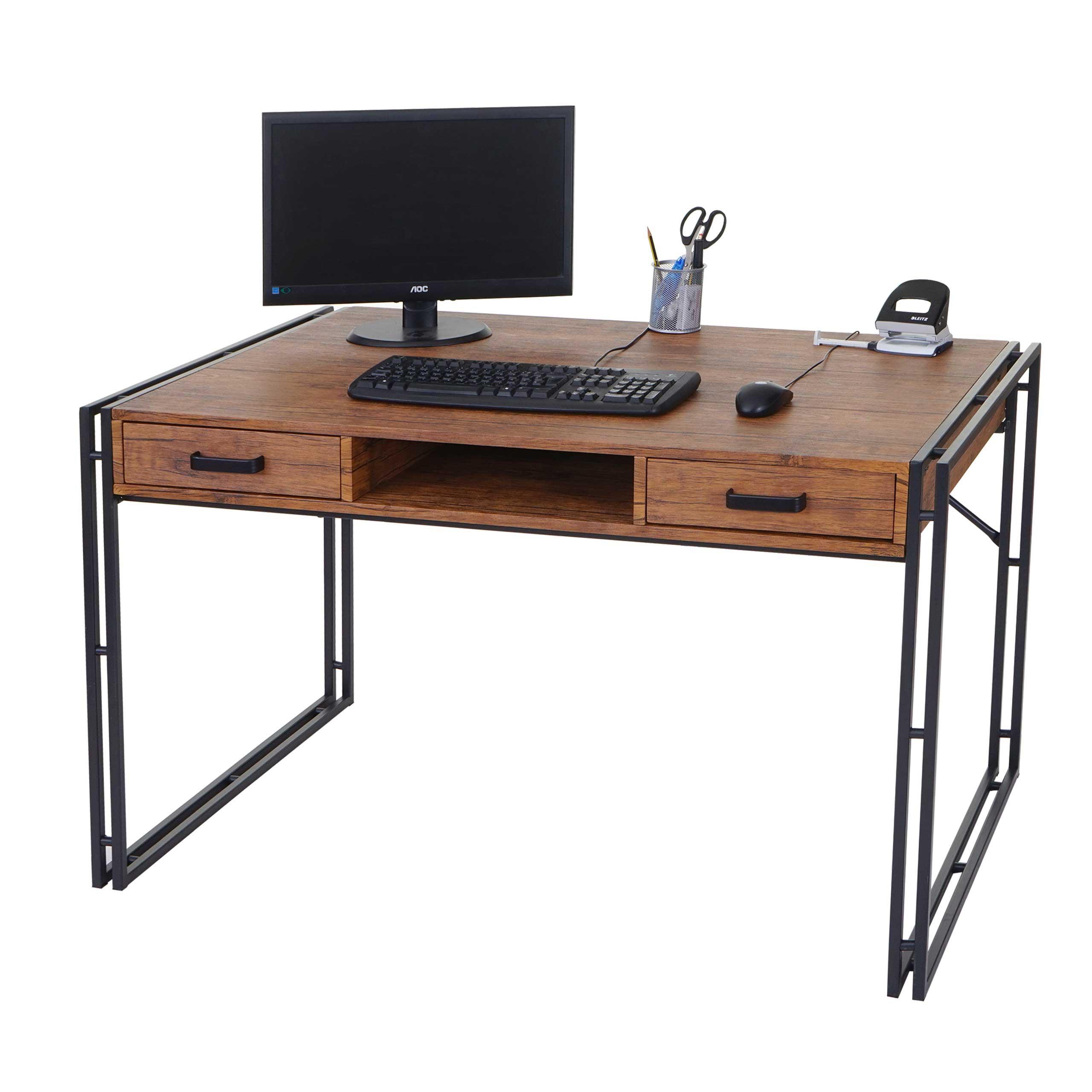 Scrivania per ufficio olaf cm 121x70 in legno e metallo for Scrivanie da ufficio
