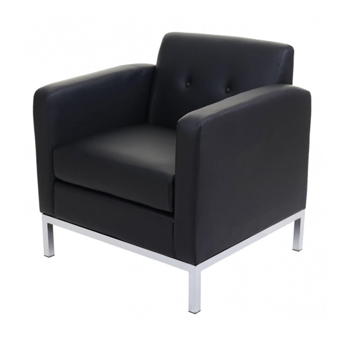 divano a 1 posto dexter in pelle nero
