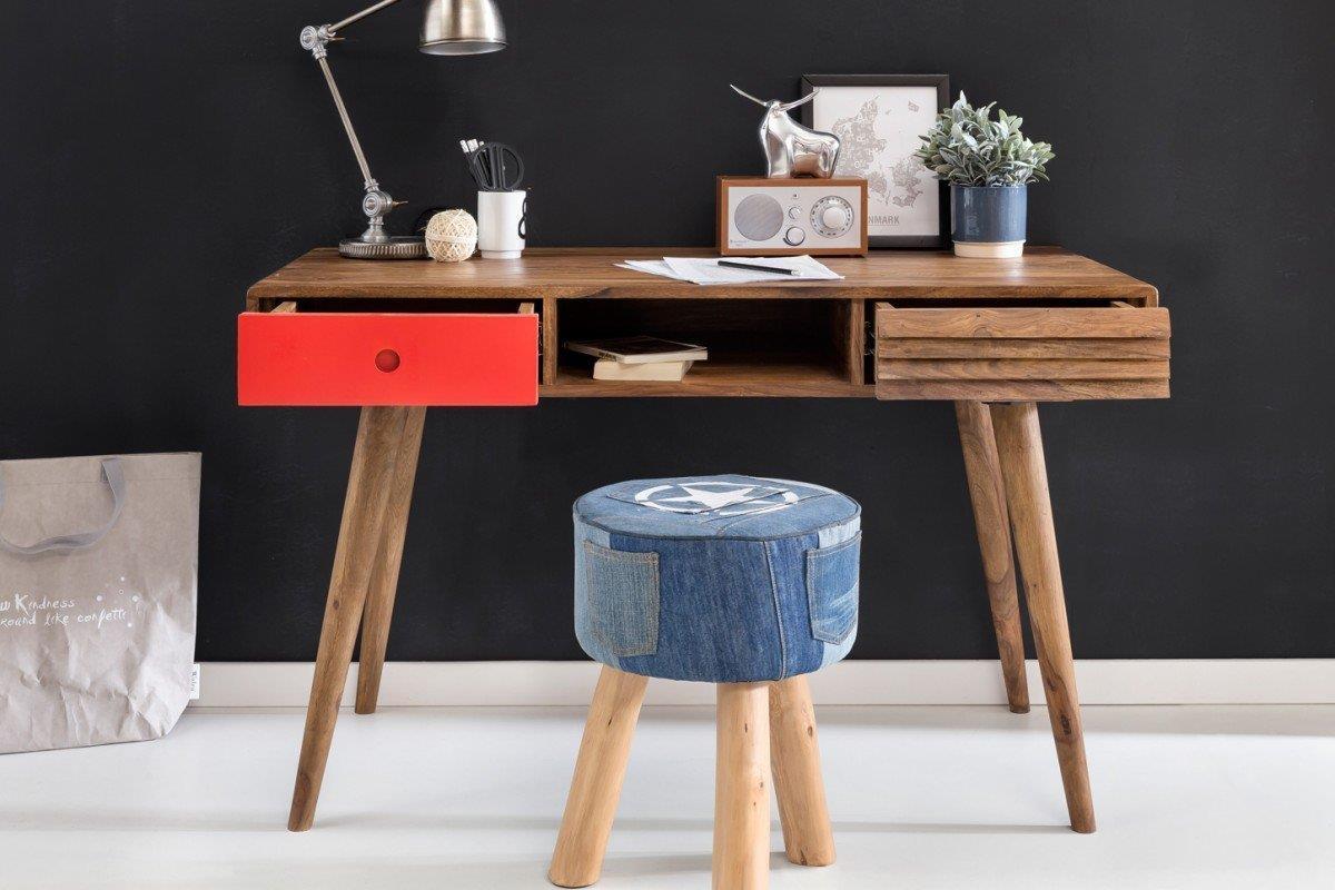Scrivania In Legno Chiaro : Scrivania repang misure cm in legno dettaglio in