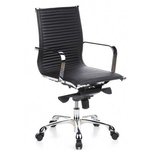 Sedia da ufficio cremona 10 seduta in vera pelle base for Sedia ufficio xxl