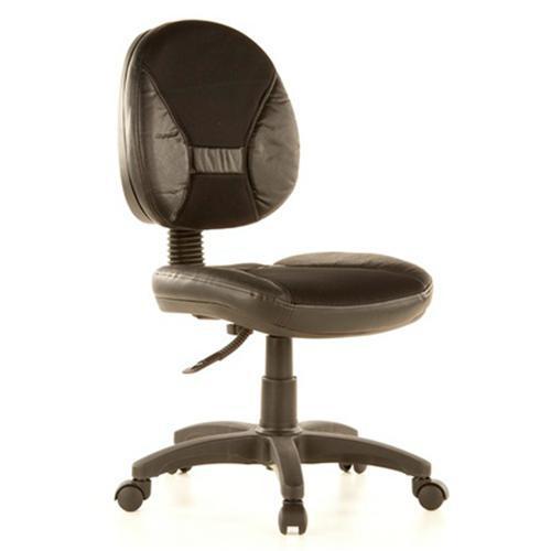 Sedia per ufficio ERGO DUAL, regolabile, imbottita, in vera pelle e ...