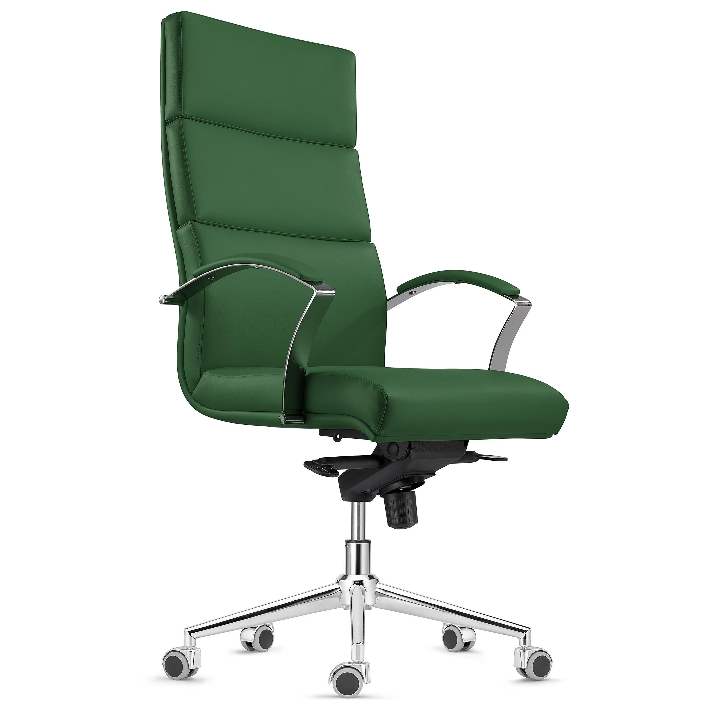 Poltrona per Ufficio RABAT, in Pelle Verde, Design e Alta ...