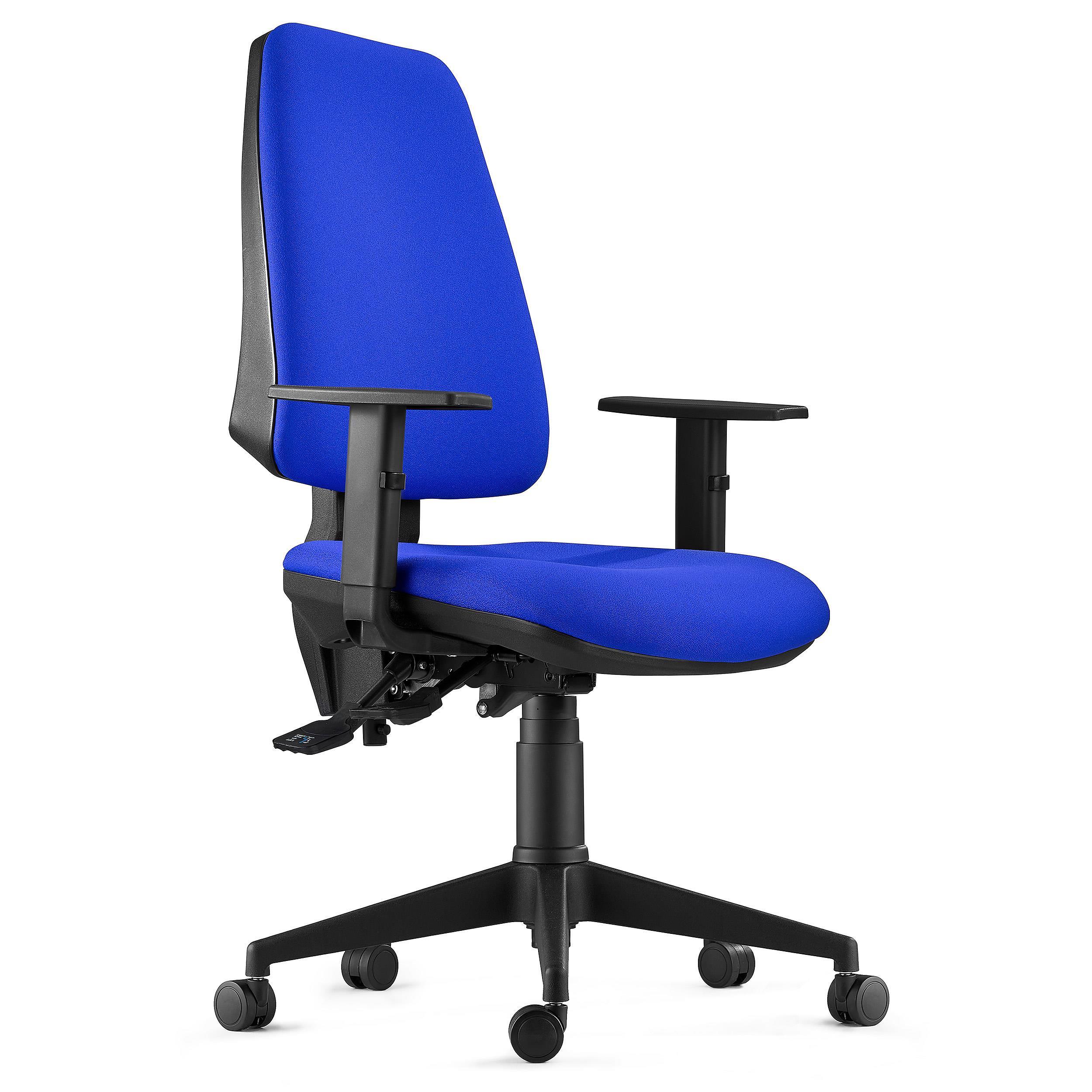 Sedia ergonomica indiana in tessuto ignifugo color blu for Sedia ergonomica
