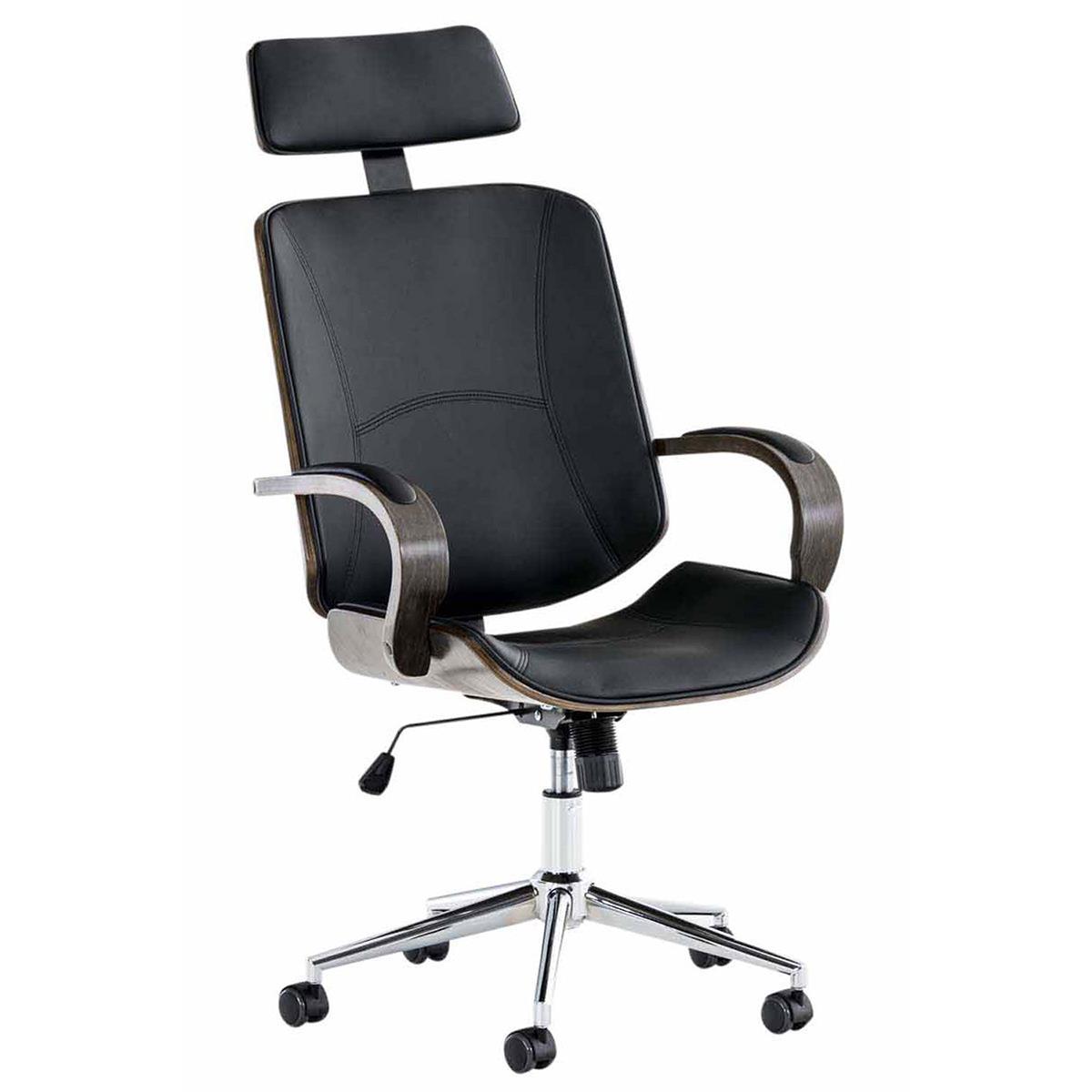 Sedia da ufficio jutta struttura scura in legno seduta for Design legno ufficio