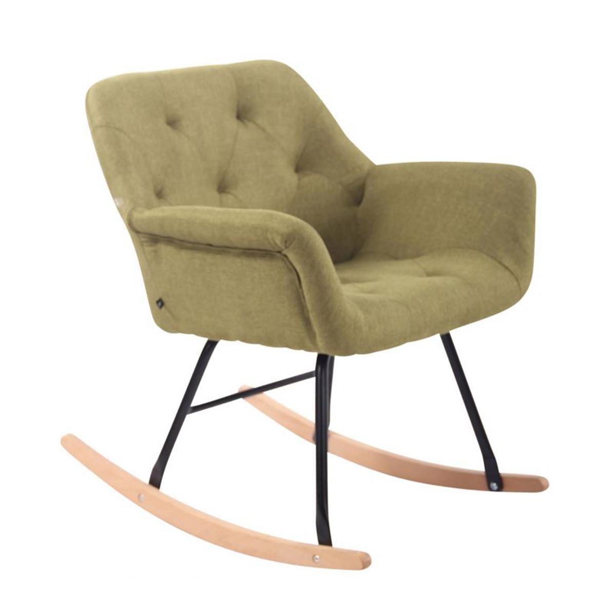 Sedia d 39 attesa dandy a dondolo imbottita design stile for Sedie design nordico