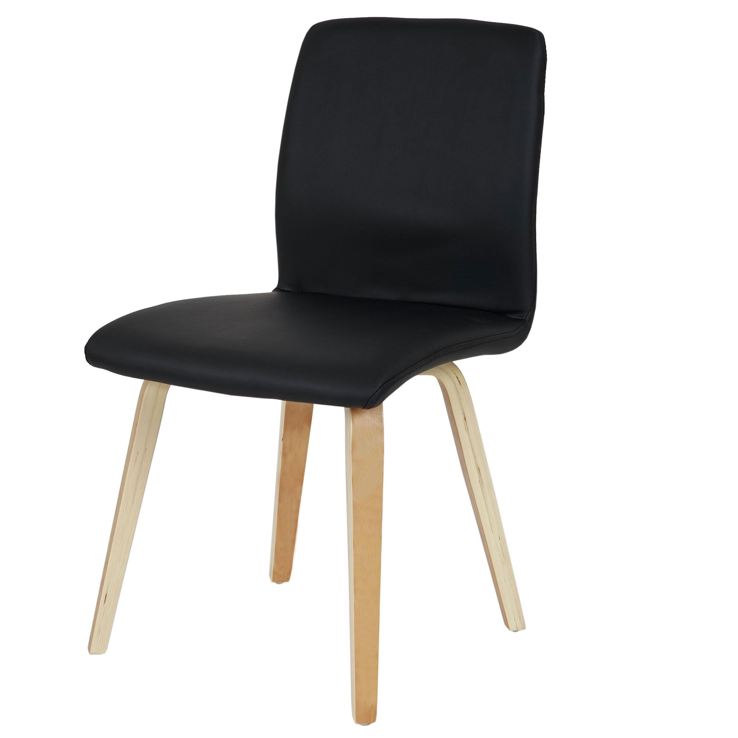 Lotto di 2 Se d Attesa o Riunione DUSTY Qualit e Design con gambe in Legno color Faggio e Pelle Nera