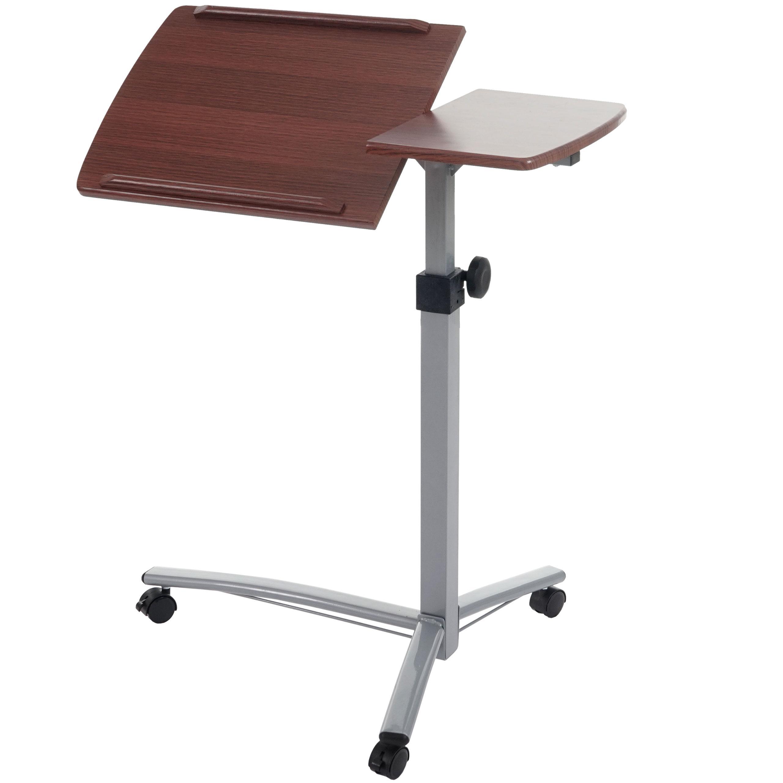 Tavolino leggio stand altezza regolabile con ruote ripiano in legno color noce tavolino - Leggio da letto ikea ...