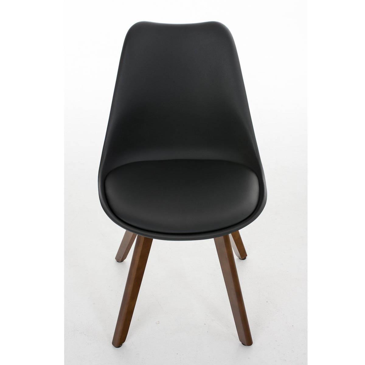 Sedia di design per ospiti borneo stile r tro con base in for Sedia per sala d attesa