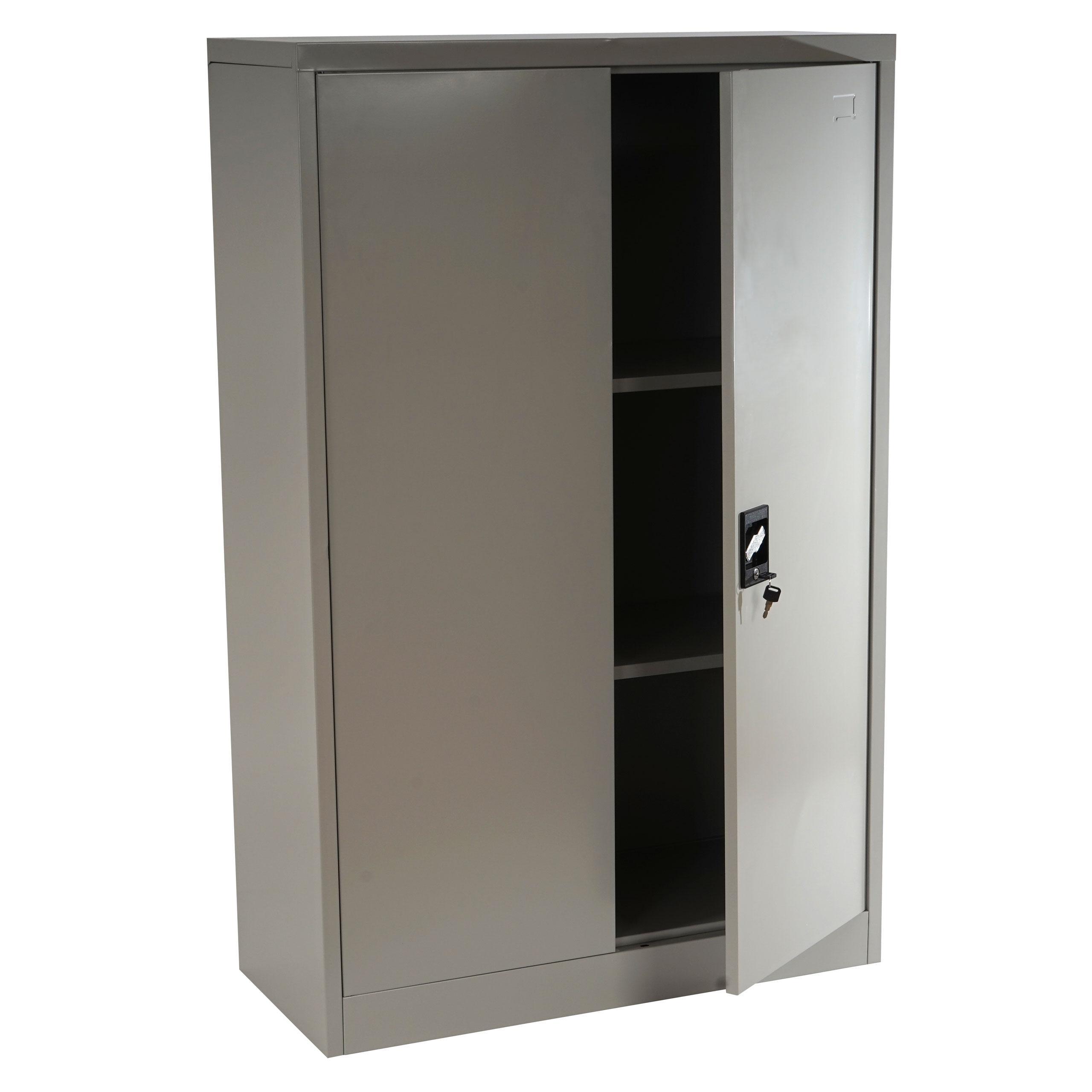 Armadio metallico per ufficio EDIT 2 ANTE, cm 140x80x40 ...
