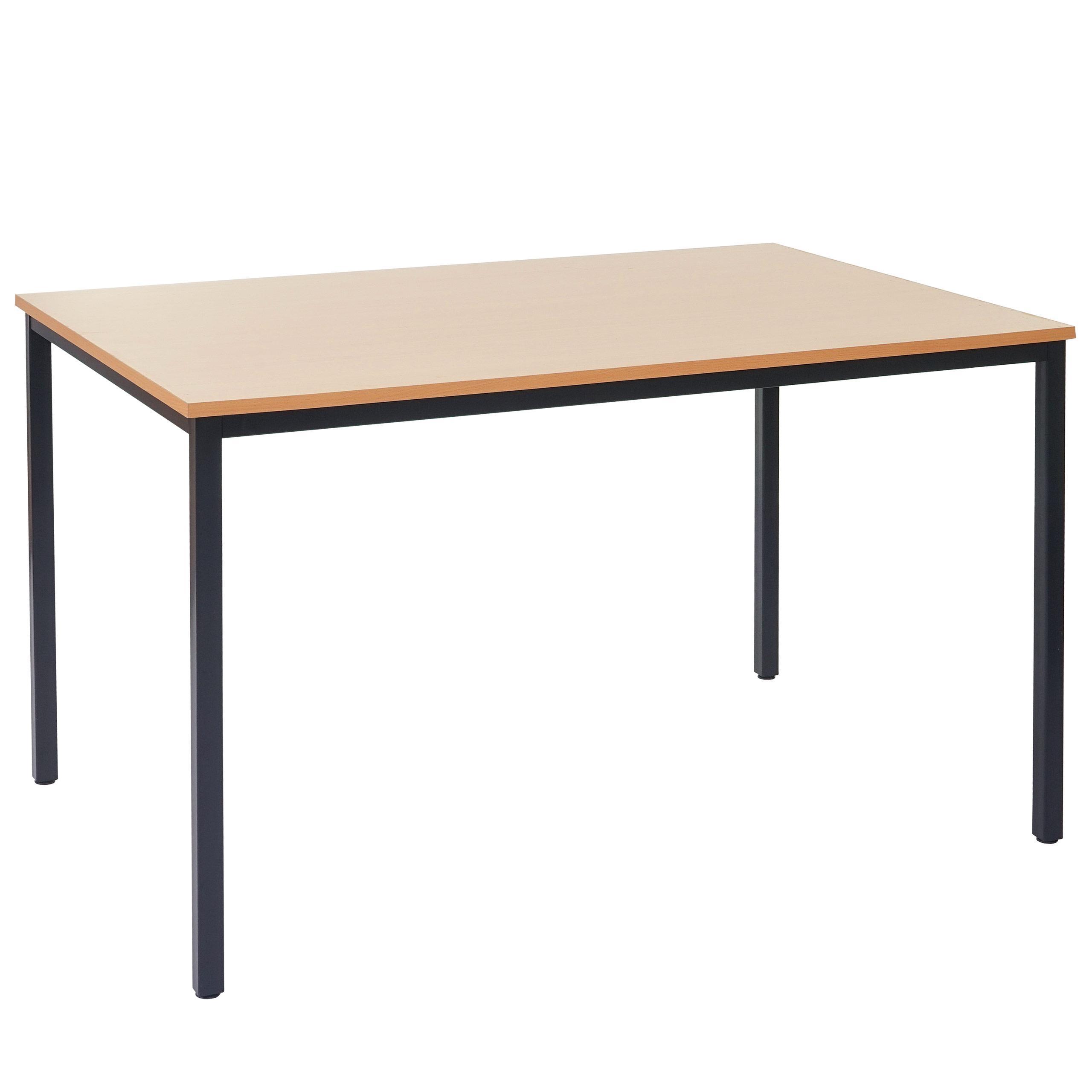 Tavolo per ufficio DEMI, struttura in metallo e ripiano in legno color faggio. - Tavolo per ...