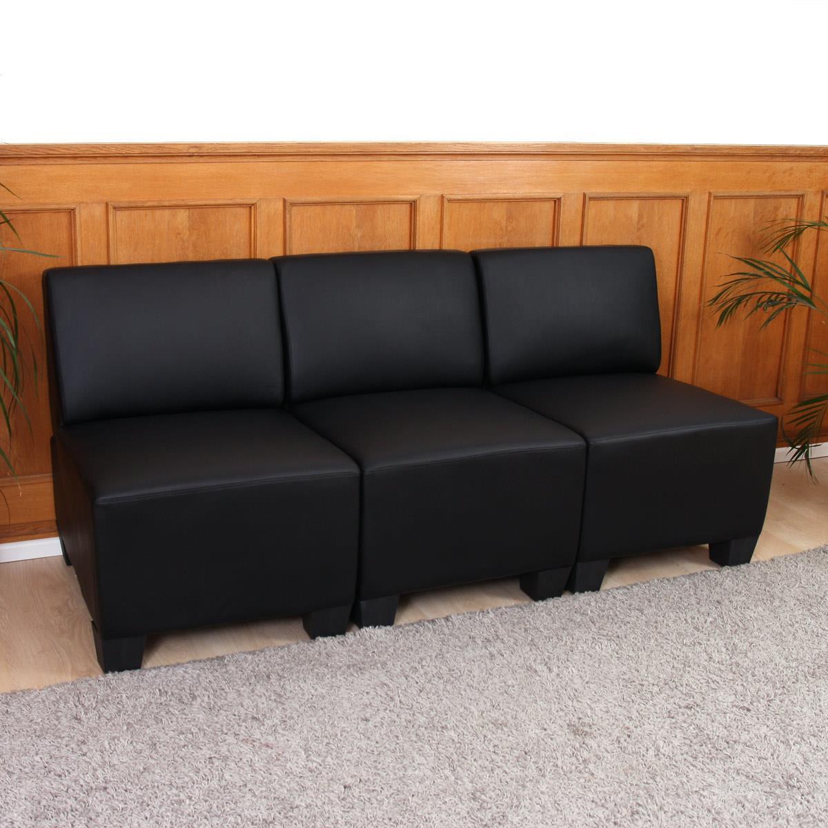 Divano modulare 3 posti lyon design moderno comodo in for Divano senza braccioli