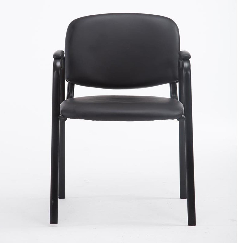 Sedia conferenze MOBY PELLE con BRACCIOLI, similpelle nera, gambe ...