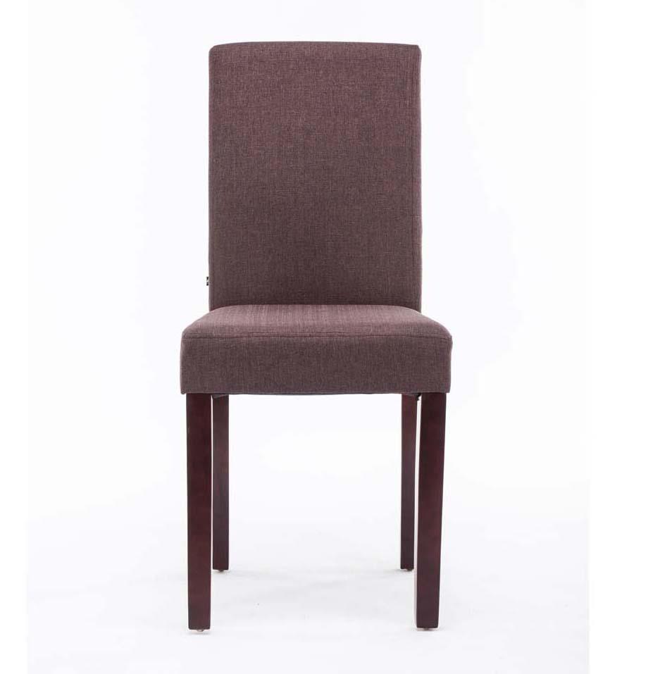 Sedia per ospiti mita tessuto gambe in legno marrone for Sedie tessuto design