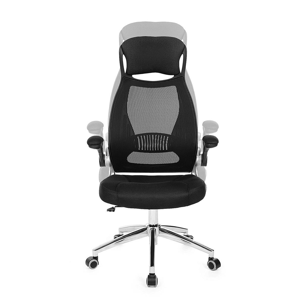 Sedia ergonomica niki in rete traspirante colore nero for Sedia ergonomica