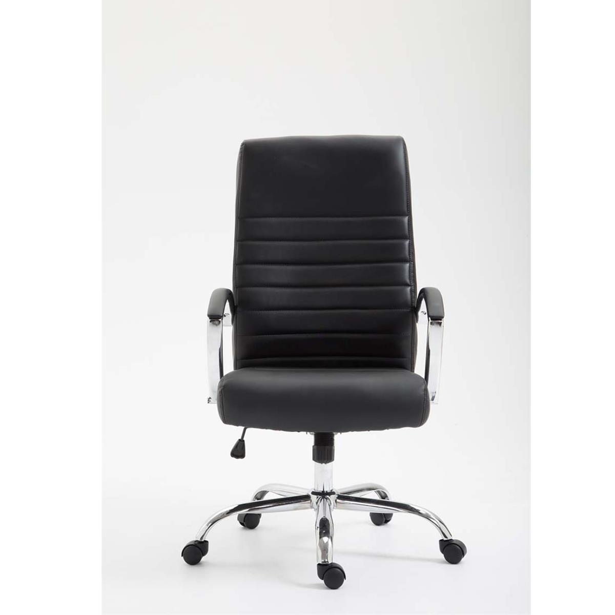 Sedia da ufficio vancouver in pelle color nero for Design sedia ufficio