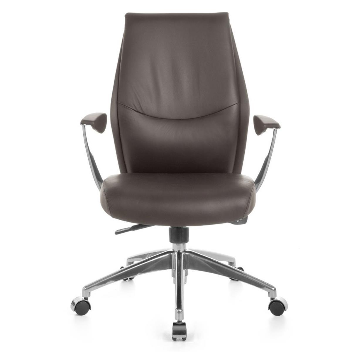 Sedia da ufficio savoia 10 design elegante comoda for Sedia design marrone