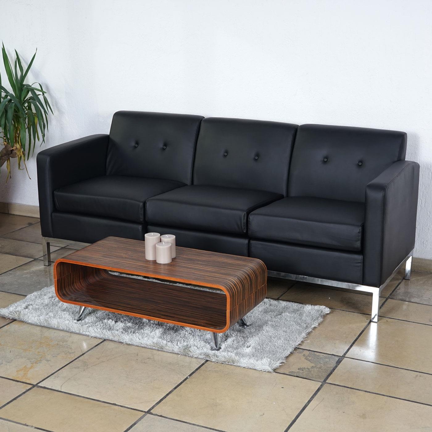 divano a 3 posti dexter in pelle nero