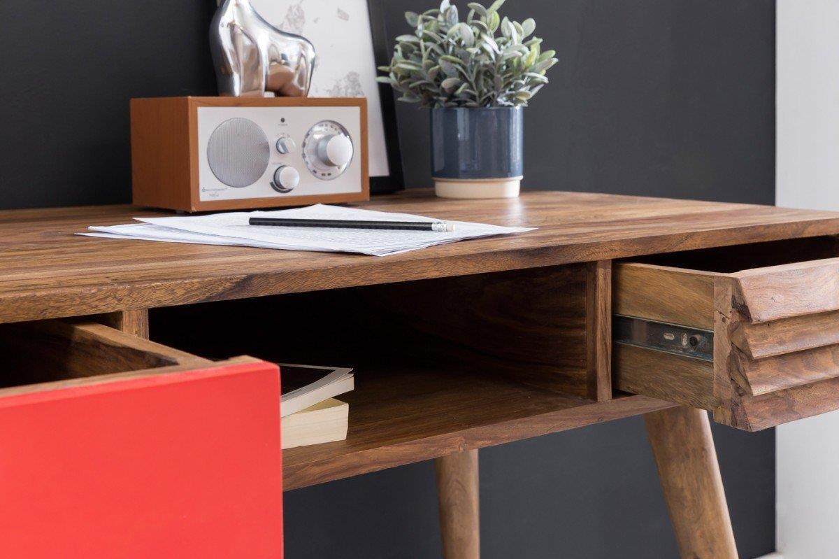Scrivania repang misure cm 80x120x55 in legno dettaglio for Scrivania design