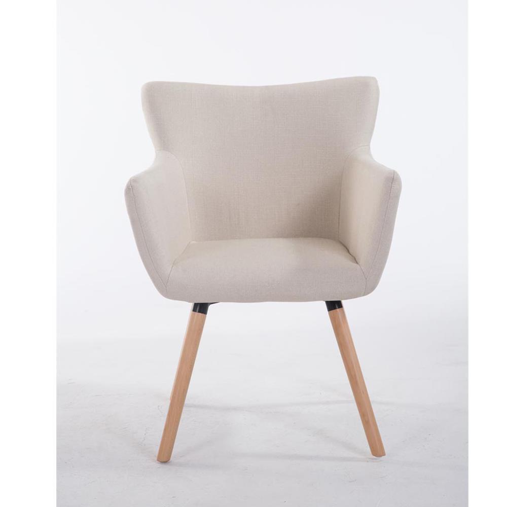 Sedia d 39 attesa niagara gambe in legno tessuto beige for Sedie design tessuto