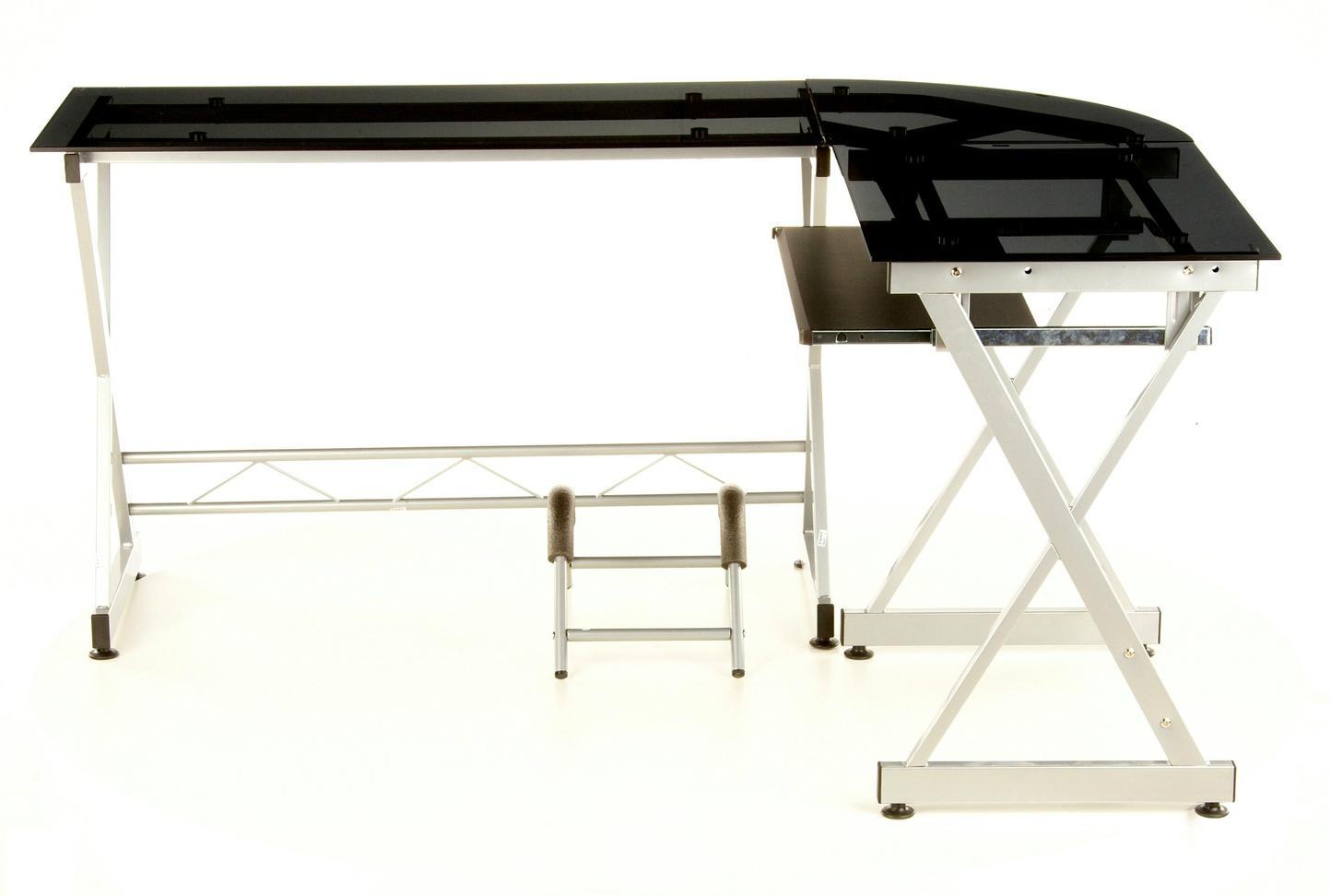Cool scrivania da ufficio expert in vetro temperato nero for Scrivania low cost