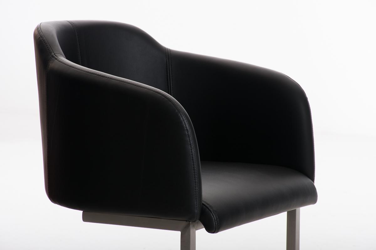Poltroncina di design tokio pelle struttura in acciaio seduta in
