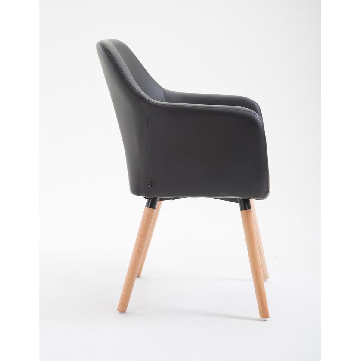Sedia per sala d\'attesa NIEBLA PELLE, design sofisticato, in legno ...