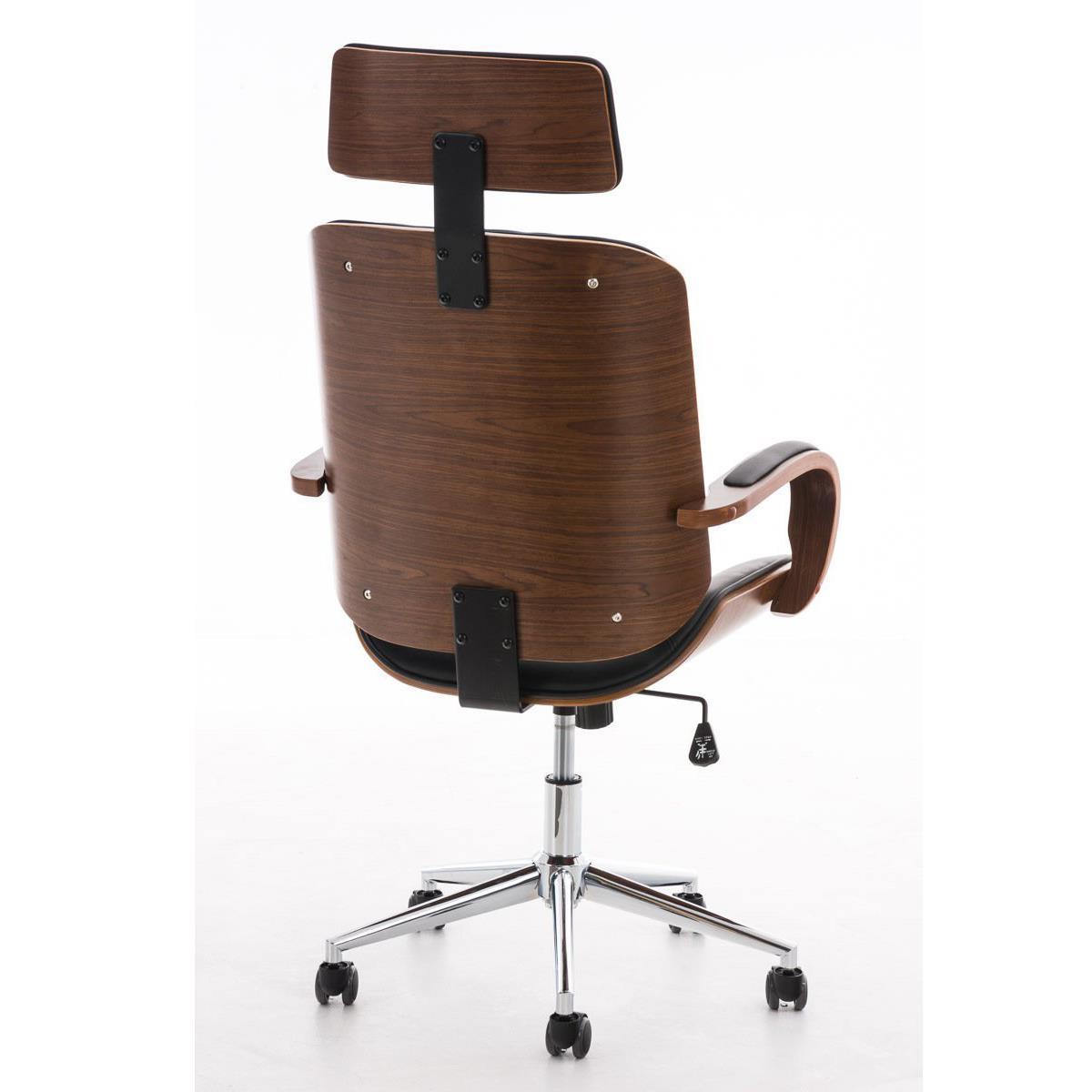Sedia da ufficio jutta design unico in legno e pelle for Ufficio design in legno